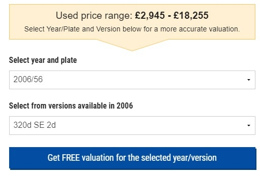 price range year and plate parkers