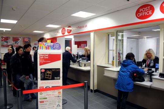 How do I pay tax at the Post Office?