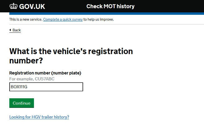 DVLA and Selling Your Car - DVLA MOT Details Check