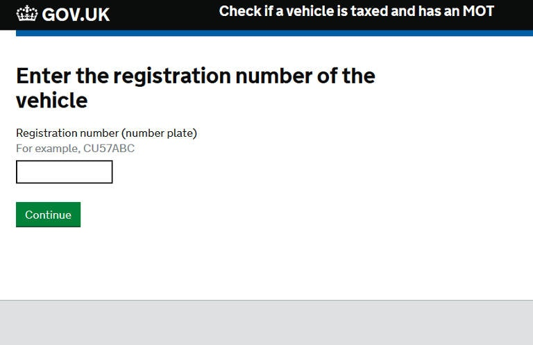 GOV.uk MOT Check Service