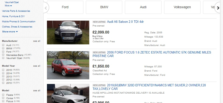 buy cars on ebay