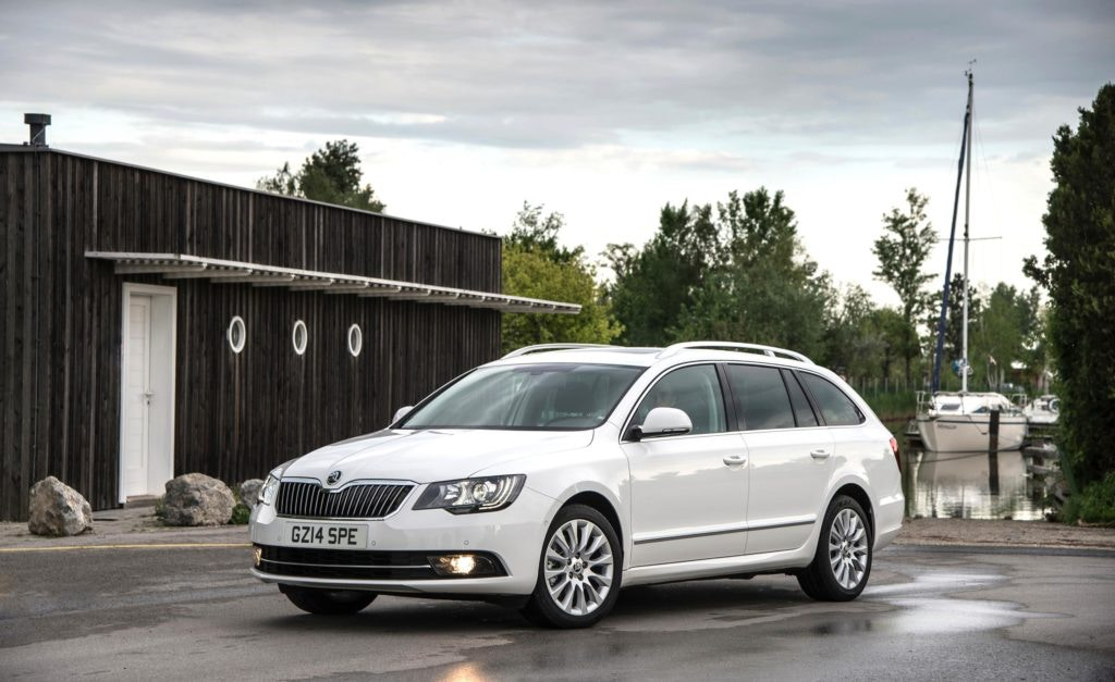 Plain jane the Skoda Superb Estate offers lots of load space but muted family car looks.