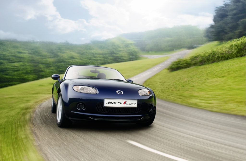 Want a drop stop sportscar for the summer? The Mazda MX5 is a bargain for under £5,000.