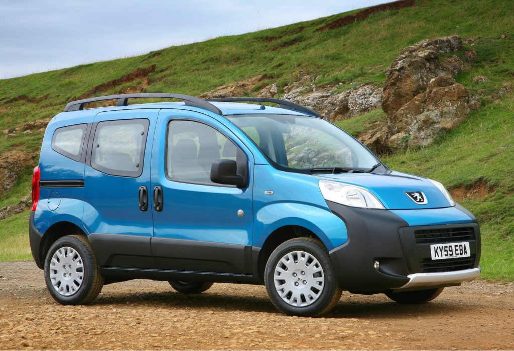 Peugeot Bipper Tepee, it may look like a van but it's a budget people carrier for under £5,000 used.