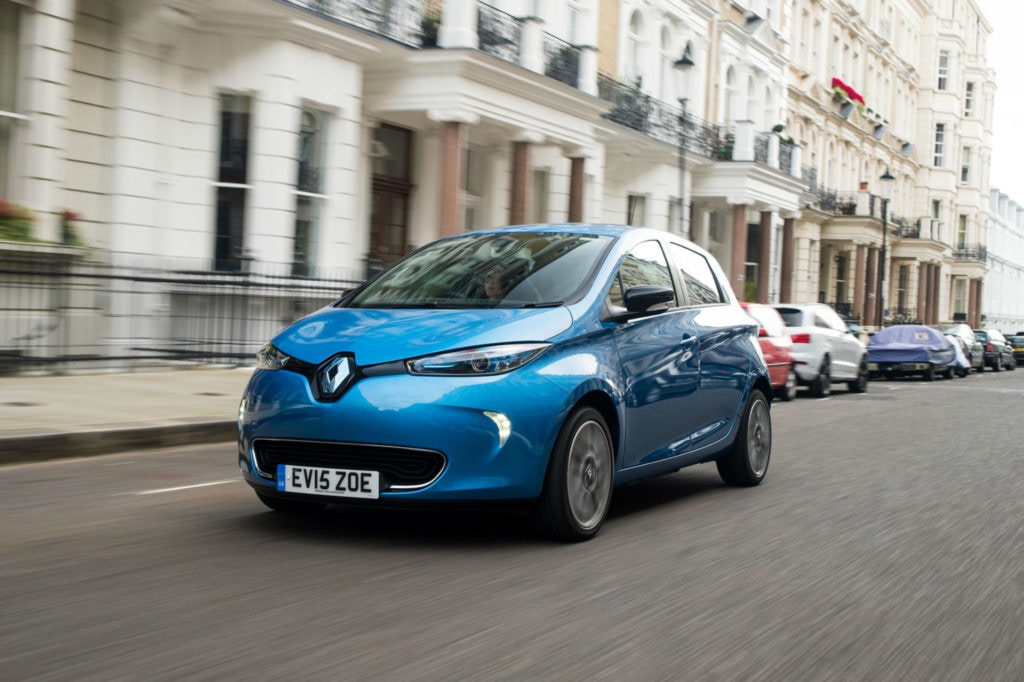 Renault Zoe electric small automatic car