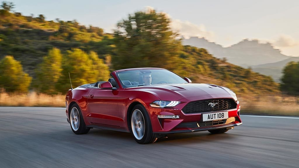 The Ford Mustang is a classic convertible.