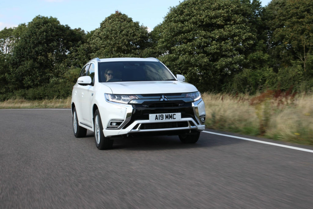 The UK's biggest PHEV seller, the Mitsubishi Outlander PHEV.
