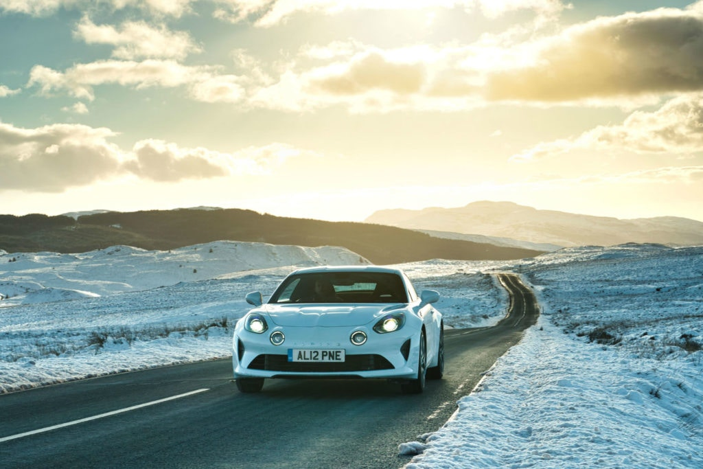 White Alpine A110 Sports car
