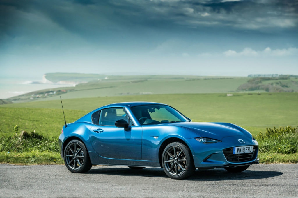 Mazda MX-5 RF, a sports car with a hard top roof