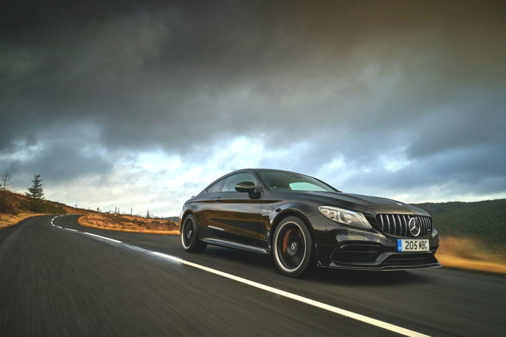 Not cheap, but the V8 Mercedes AMG C63 Coupe is a worth sports car contender