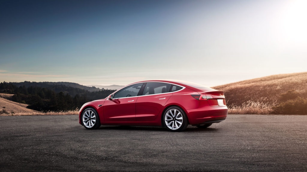 The Tesla Model 3 is the newest electric car for 2019.