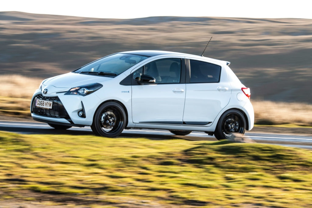The new Yaris GR Sport adds side skirts and a rear spoiler for that sportier look.