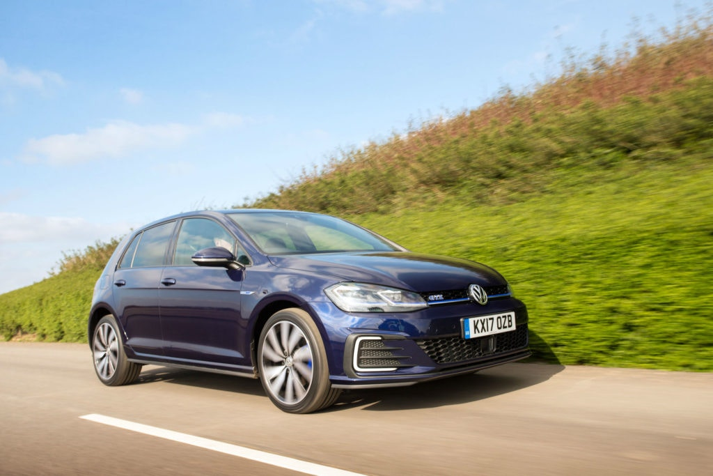 VW Golf GTE, it's like a GTi but can sip fuel when needed.