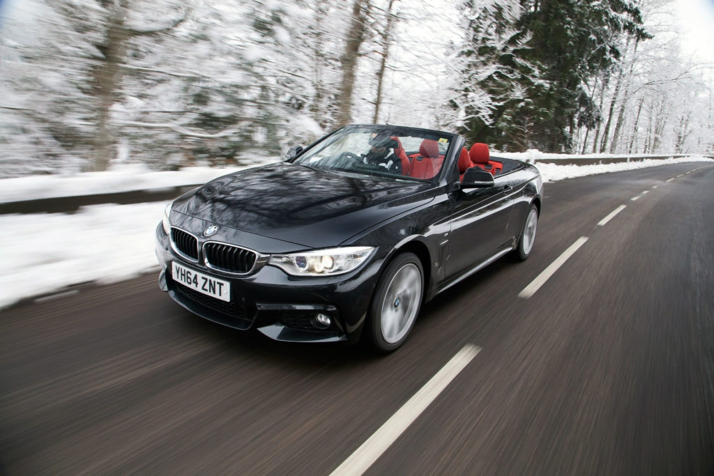 BMW's new 4 series convertible with all-wheel drive.