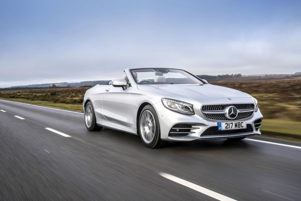 The super luxury Mercedes S Class Cabriolet.