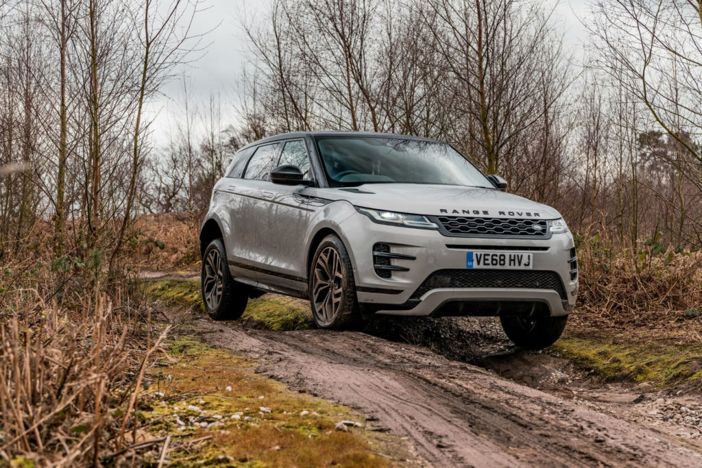 Range Rover Evoque is a capable off-road machine.