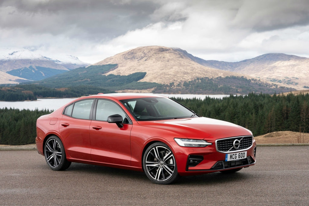 Volvo S60 is the smaller saloon in the range.