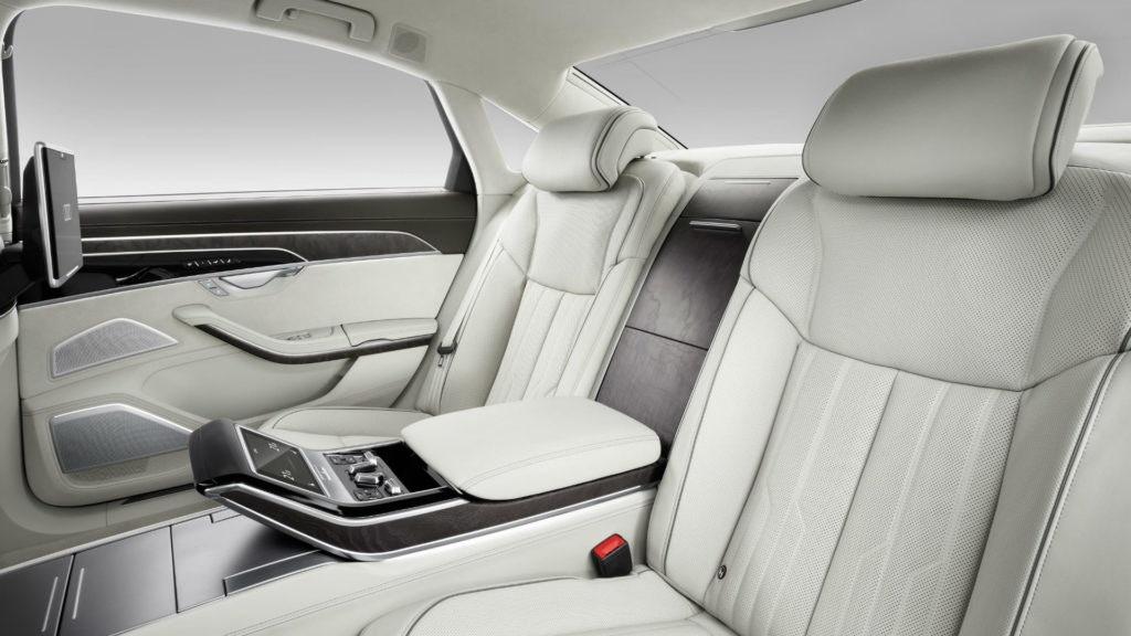 Sièges arrière de l'Audi A8
