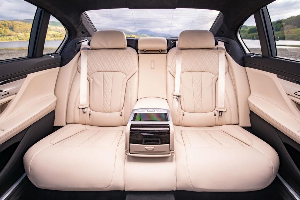 Sièges arrière de la BMW série 7
