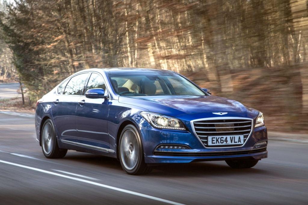 Un soupir super rare sur les routes du Europe, la Hyundai Genesis