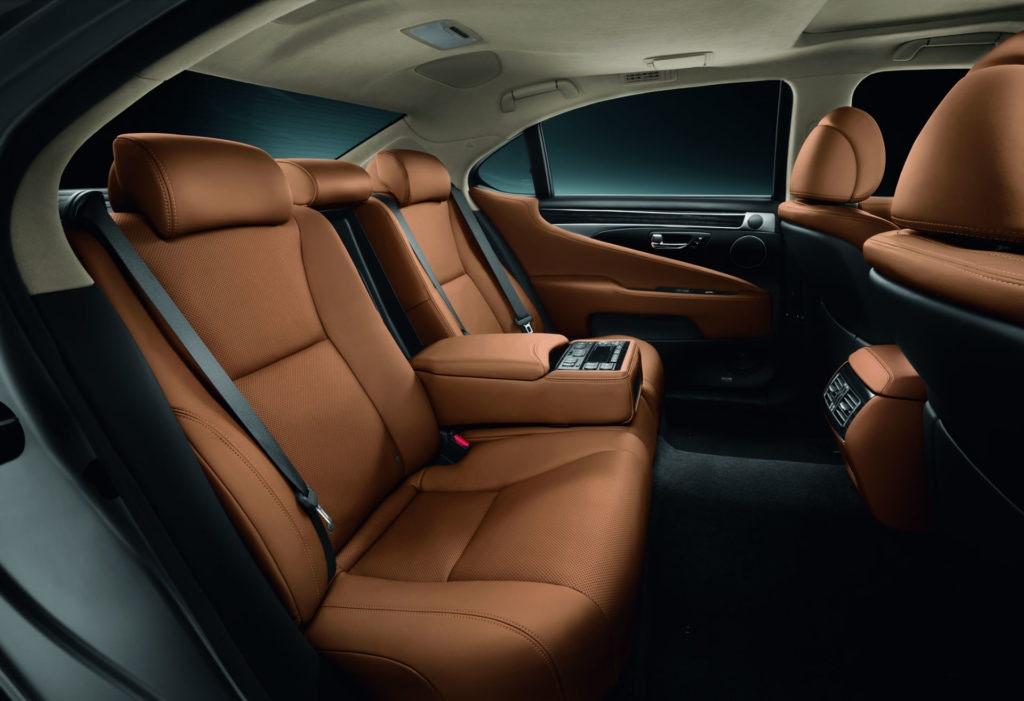 Sièges arrière de la Lexus LS