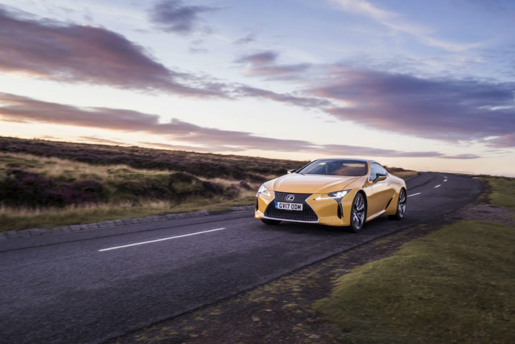 The LC 500 from Lexus has standout looks.